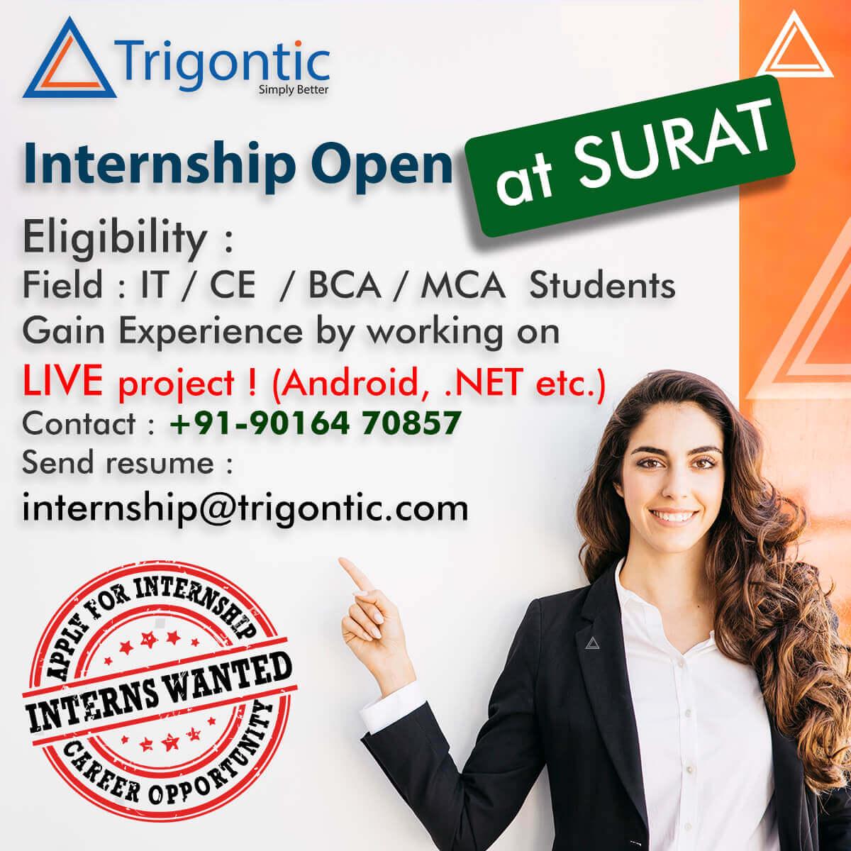 .net android internship Trigontic