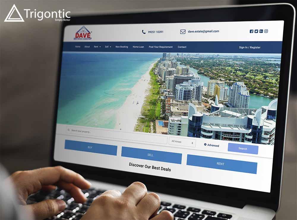 Trigontic Website Design Dave Real Estate Surat